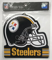 Pittsburgh Steelers NFL Embossed Heavy-Duty Metal Helmet Sign 8