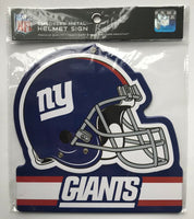 New York Giants NFL Embossed Heavy-Duty Metal Helmet Sign 8