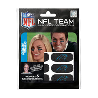 Carolina Panthers NFL Team Adhesive Face Decorations Pack of 6