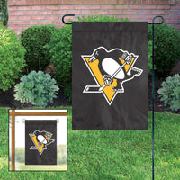 Pittsburgh Penguins Embroidered Weather Resistant Nylon Mini Flag 15