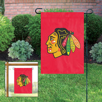 Chicago Blackhawks Embroidered Weather Resistant Nylon Mini Flag 15