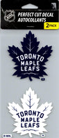 Toronto Maple Leafs Perfect Cut Decal/Sticker Set of 2 NHL 4x4