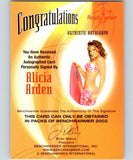 (HCW) 2002 Bench Warmer Alicia Arden Autograph 04305