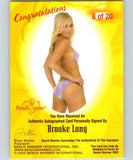 (HCW) 2003 Bench Warmer Brooke Long Authentic Autograph 04323