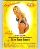 (HCW) 2003 Bench Warmer Nicole Renee Bennett Authentic Autograph 04324