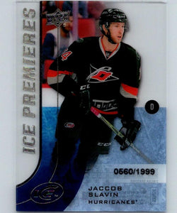 2015-16 Upper Deck Ice Premeires #134 Jaccob Slavin Rookie 560/1999 RC 04359