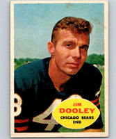 1960 Topps #15 Jim Dooley NM Near Mint Football NFL Bears Vintage 04365