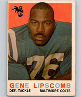 1959 Topps #36 Gene Lipscomb Football NFL RC Rookie Colts Vintage 04367