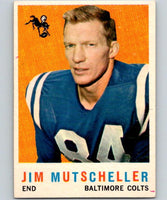 1959 Topps #89 Jim Mutscheller Football NFL Colts Vintage 04368