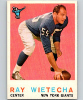 1959 Topps #99 Ray Wietecha Football NFL NY Giants Vintage 04371