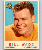 1959 Topps #110 Bill Wade Football NFL LA Rams Vintage 04372