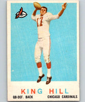 1959 Topps #117 King Hill Football NFL RC Rookie Vintage 04373