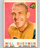1959 Topps #127 Will Sherman Football NFL LA Rams Vintage 04377