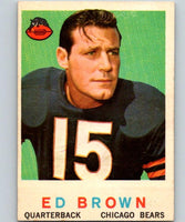 1959 Topps #137 Ed Brown Football NFL Bears Vintage 04378