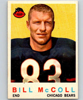 1959 Topps #151 Bill McColl Football NFL Bears Vintage 04379