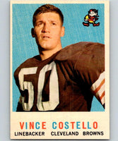 1959 Topps #158 Vince Costello UER Football NFL RC Rookie Browns Vintage 04380