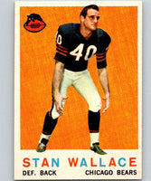1959 Topps #159 Stan Wallace Football NFL RC Rookie Bears Vintage 04381