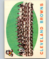 1959 Topps #161 Browns Team Football NFL Browns Vintage 04382