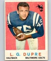 1959 Topps #163 L.G. Dupre UER Football NFL Colts Vintage 04383