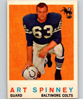 1959 Topps #171 Art Spinney Football NFL Colts Vintage 04386