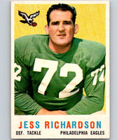 1959 Topps #174 Jesse Richardson Football NFL RC Rookie Eagles Vintage 04387