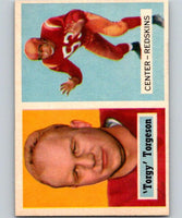 1957 Topps #12 Lavern Torgeson Football NFL RC Rookie Redskins Vintage 04389