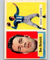 1957 Topps #47 Don Heinrich Football NFL NY Giants Vintage 04397