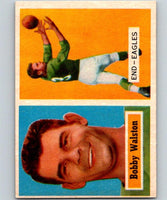 1957 Topps #61 Bobby Walston Football NFL Eagles Vintage 04399
