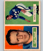 1957 Topps #77 Carl Taseff UER Football NFL Colts Vintage 04404