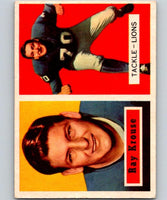 1957 Topps #141 Ray Krouse Football NFL Lions Vintage 04408