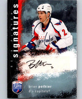 2007-08 Upper Deck Be A Player Signatures #SBP Brian Pothier Auto 04430