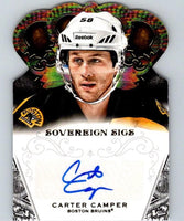 2013-14 Panini Crown Royale Sovereign Sigs Carter Camper Auto NHL 04447