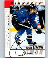1997-98 Be A Player Autographs Chris Simon Hockey NHL Auto 04473
