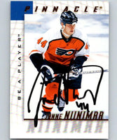 1997-98 Be A Player Autographs Janne Niinimaa Hockey NHL Auto 04475