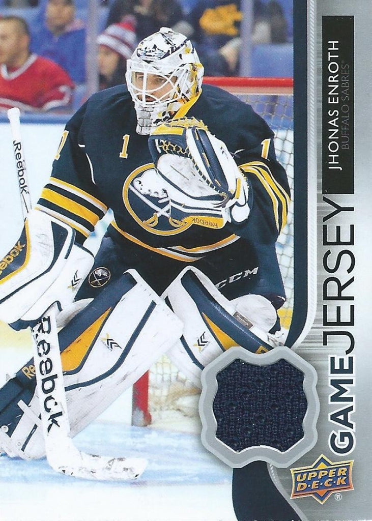 2014-15 Upper Deck Game Jerseys #GJ-EJ Jhonas Enroth NHL Hockey 04483