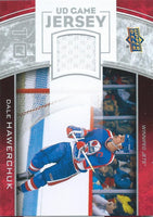 2013-14 Upper Deck UD Game Jersey #GJ-DH Dale Hawerchuk NHL Hockey 04511