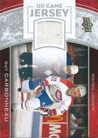 2013-14 Upper Deck UD Game Jersey #GJ-GC Guy Carbonneau NHL Hockey 04515