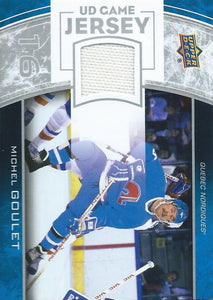 2013-14 Upper Deck UD Game Jersey #GJ-GO Michel Goulet NHL Hockey 4516