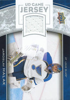 2013-14 Upper Deck UD Game Jersey #GJ-JH Jaroslav Halak NHL Hockey 04519