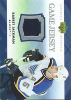 2007-08 Upper Deck Game Jerseys #JBJ Barret Jackman NHL Hockey 04535