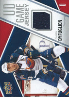 2011-12 Upper Deck Game Jerseys #GJBY Dustin Byfuglien NHL Hockey 04563
