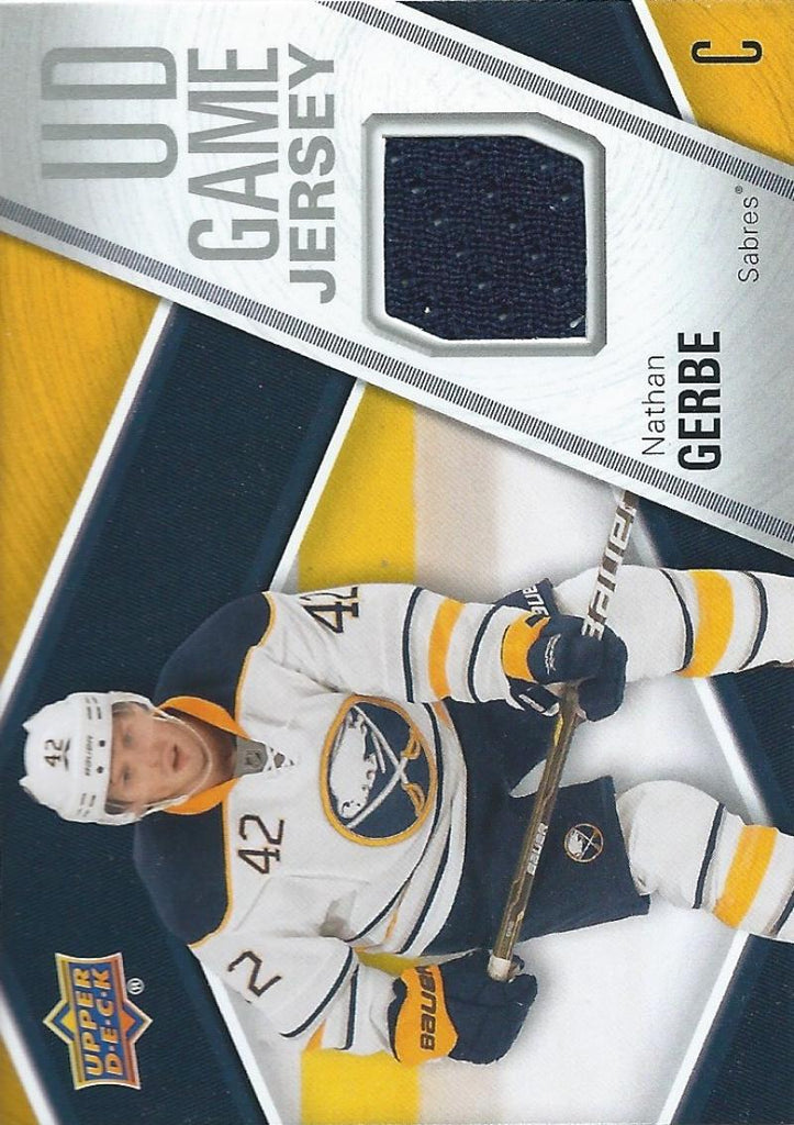 2011-12 Upper Deck Game Jerseys #GJNG Nathan Gerbe Hockey NHL 04566