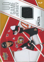 2011-12 Upper Deck Game Jerseys #GJJS Jason Spezza Hockey NHL 04569