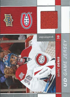 2009-10 Upper Deck Game Jerseys #GJMD Marc Denis NHL Hockey 04584