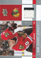 2009-10 Upper Deck Game Jerseys #GJPS Patrick Sharp NHL Hockey 04586