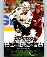 2008-09 Upper Deck #210 Mark Fistric NHL RC Rookie Young Guns YG 04612