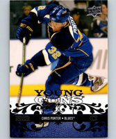 2008-09 Upper Deck #216 Chris Porter NHL RC Rookie Young Guns YG 04614