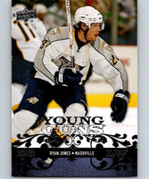 2008-09 Upper Deck #226 Ryan Jones NHL RC Rookie Young Guns YG 04617