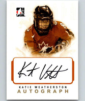 2007-08 In The Game O Canada Autographs #AKW Katie Weatherston NHL 04637