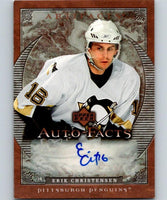 2007-08 Upper Deck Artifacts Autofacts Erik Christensen NHL Auto 04643